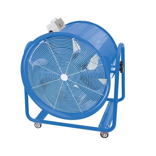VF600 600mm Industrial High Velocity Portable Fan For Dust And Fume Extraction And Ventilation 14400m3/hr Dual Voltage 110V/240V~50Hz